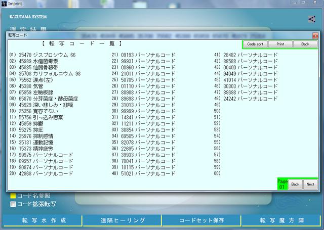 数霊システムⅡ(KS-02) コード名参照