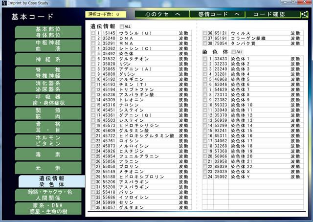 数霊システムⅡ(KS-02) アミノ酸・染色体23対コード